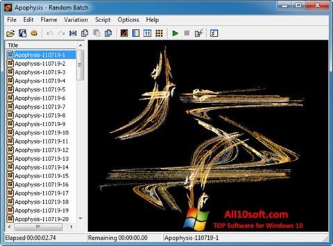 Screenshot Apophysis Windows 10