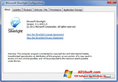 Screenshot Microsoft Silverlight Windows 10