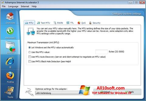 Screenshot Ashampoo Internet Accelerator Windows 10