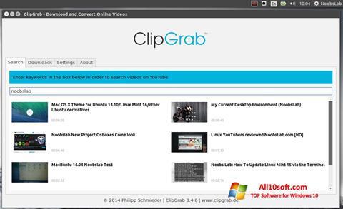 Screenshot ClipGrab Windows 10