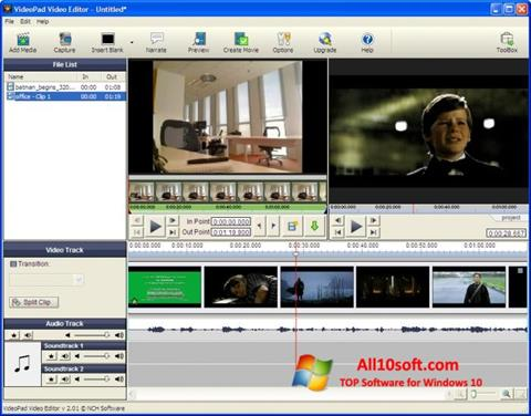 Screenshot VideoPad Video Editor Windows 10