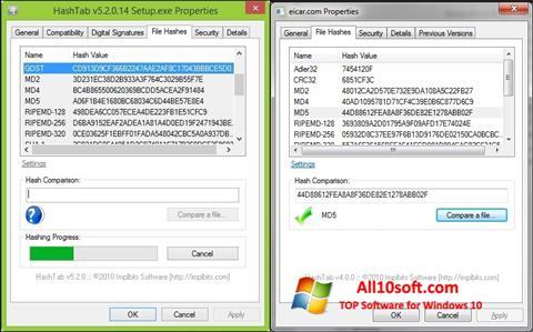 Screenshot HashTab Windows 10