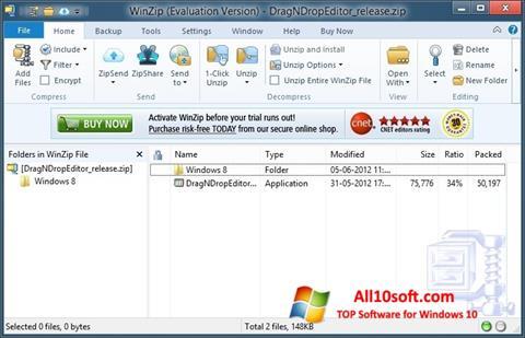 Screenshot WinZip Windows 10