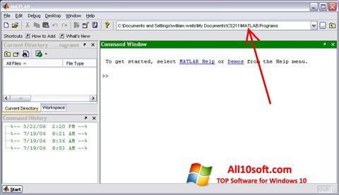 Screenshot MATLAB Windows 10