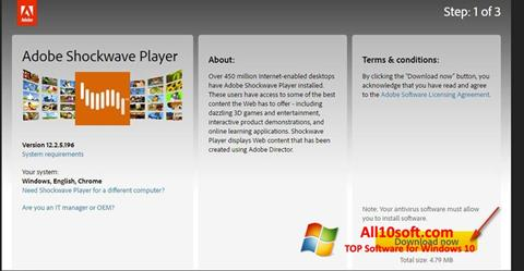 Screenshot Adobe Shockwave Player Windows 10