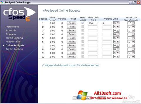 Screenshot cFosSpeed Windows 10