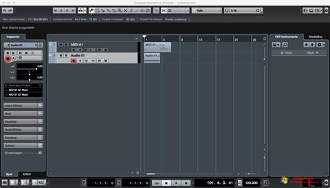 Screenshot Cubase Windows 10