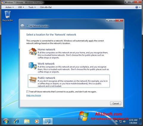Screenshot Windows Virtual PC Windows 10