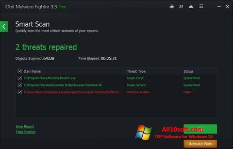 Screenshot IObit Malware Fighter Windows 10