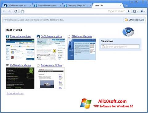 Screenshot SRWare Iron Windows 10
