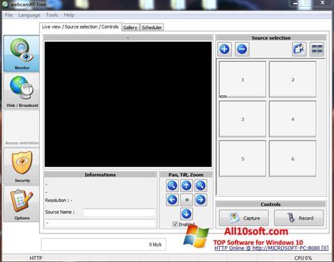 Screenshot webcamXP Windows 10