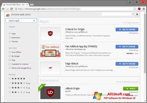 Screenshot uBlock Windows 10