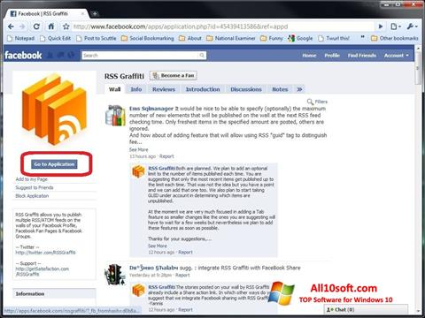 Screenshot Facebook Windows 10