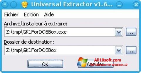 Screenshot Universal Extractor Windows 10