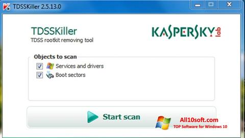 Screenshot Kaspersky TDSSKiller Windows 10
