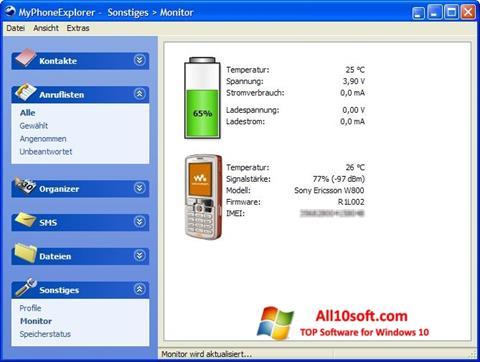 Screenshot MyPhoneExplorer Windows 10