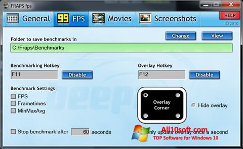 Screenshot Fraps Windows 10