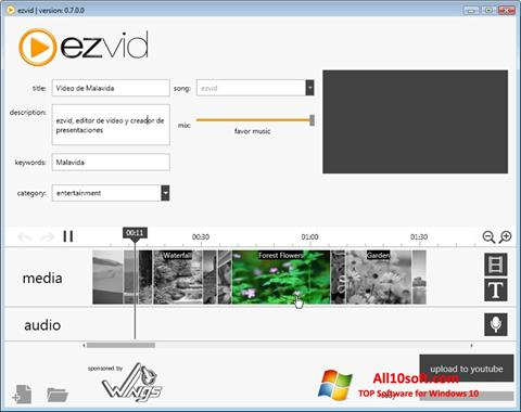 Screenshot Ezvid Windows 10