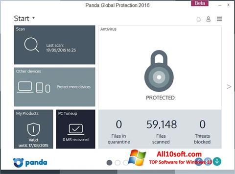 Screenshot Panda Global Protection Windows 10