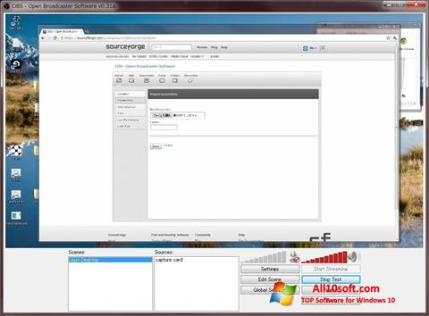 Screenshot Open Broadcaster Software Windows 10