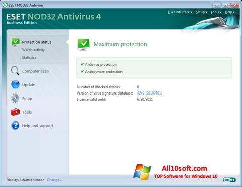 Screenshot ESET NOD32 Windows 10