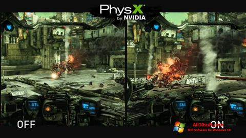Screenshot NVIDIA PhysX Windows 10