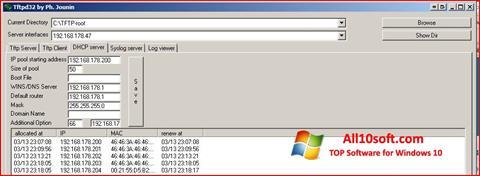 Screenshot Tftpd32 Windows 10