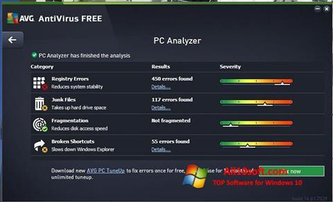 Screenshot AVG AntiVirus Free Windows 10