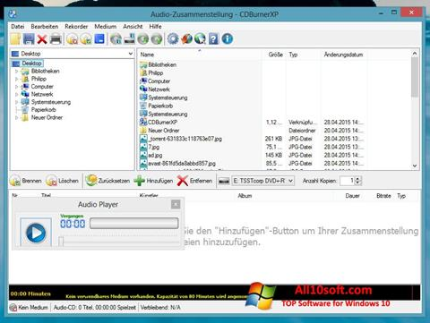 Screenshot CDBurnerXP Windows 10