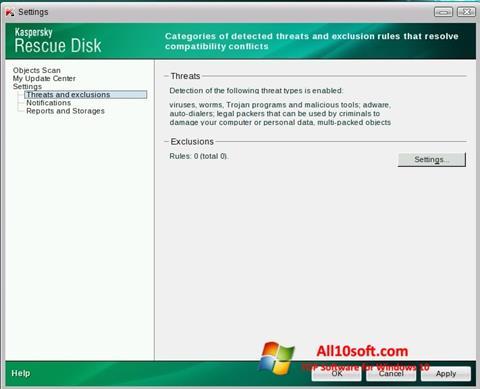 Screenshot Kaspersky Rescue Disk Windows 10