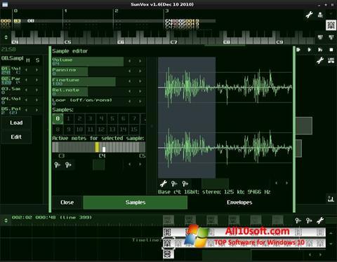 Screenshot SunVox Windows 10