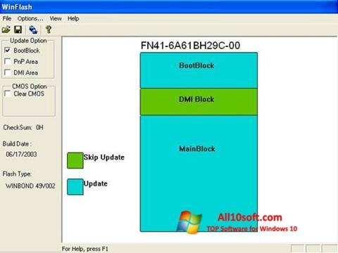 Screenshot WinFlash Windows 10