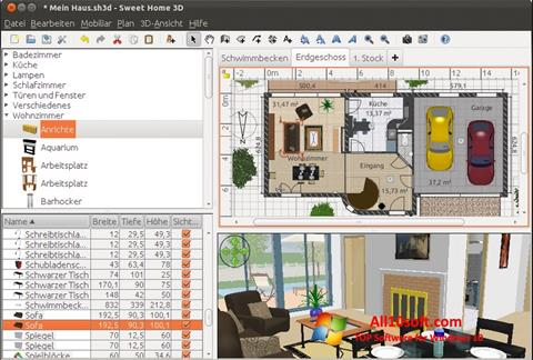 Screenshot Sweet Home 3D Windows 10